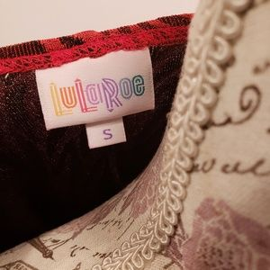 LuLaRoe Jackets & Coats - LulaRoe red and black Lindsay Kimono